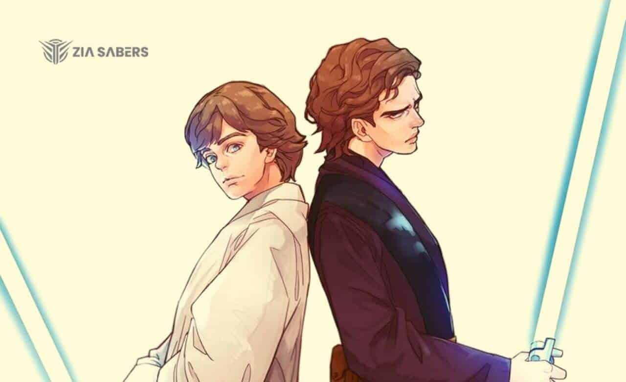 Anakin Vs Luke lightsaber